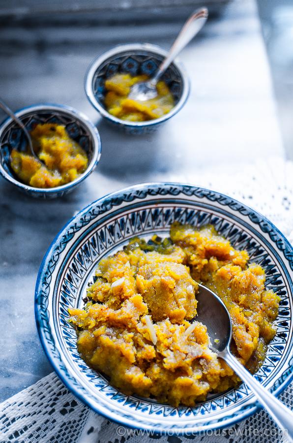 Pumpkin Halwa/ Kaddu ka halwa | The Novice Housewife
