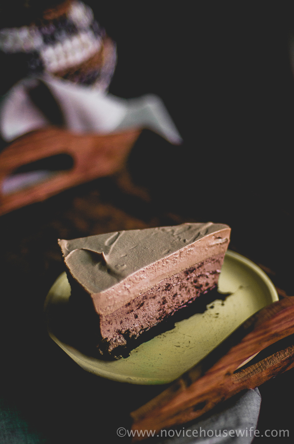 Triple Chocolate Mocha Mousse Cake