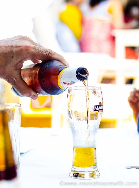 Kingfisher beer at Thalassa, Goa   The Novice Housewife