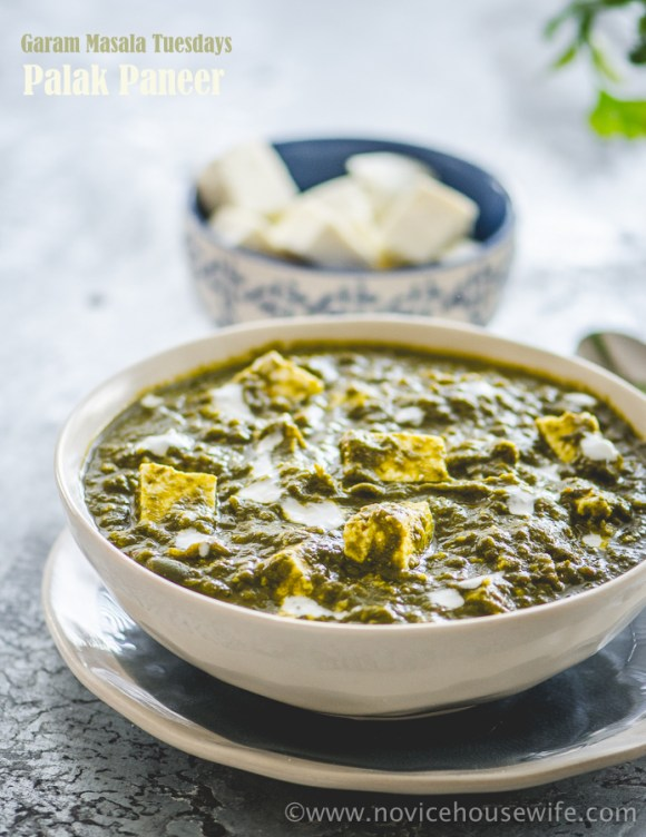 Palak Paneer | The Novice Housewife