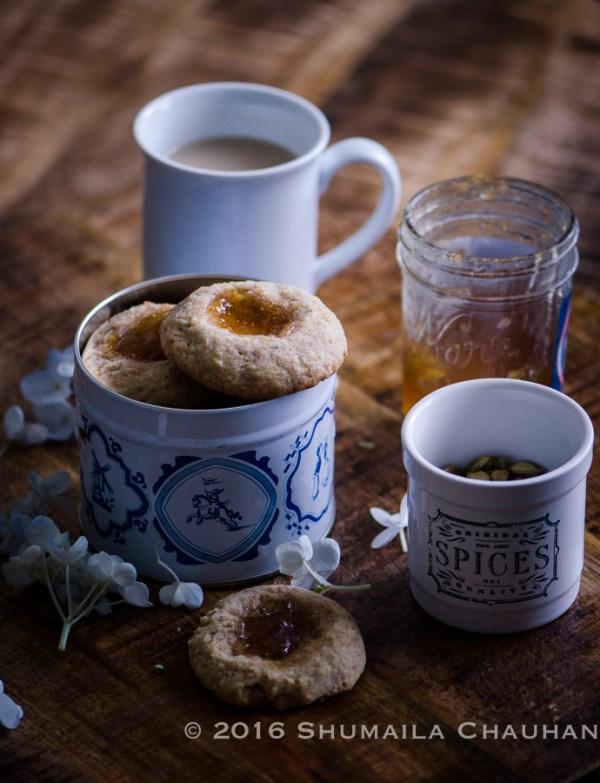 Cardamom and Fig Thumbprint Cookies