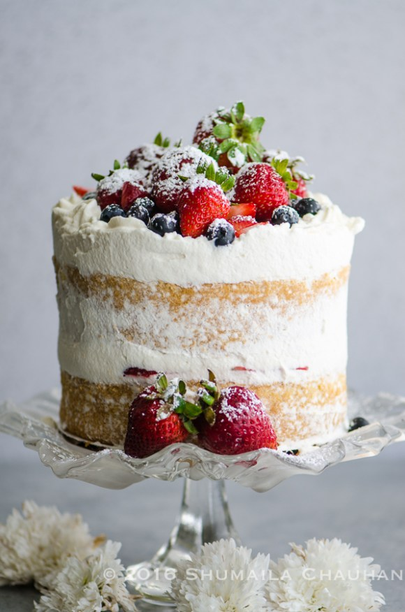 Berries and Whipped Cream Cake