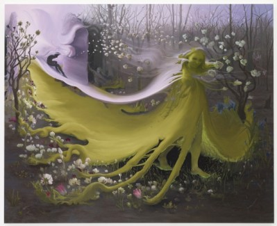 Inka Essenhigh. Green Goddess II, 2009. Oil on canvas, 72 x 60 inches. Courtesy of the artist and Victoria Miro Gallery, London © Inka Essenhigh