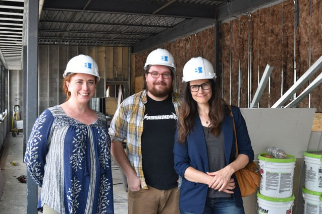 Left to Right, Stephanie Silverman, Zack Hall and Allison Inman in what will be their new office space on the second floor.