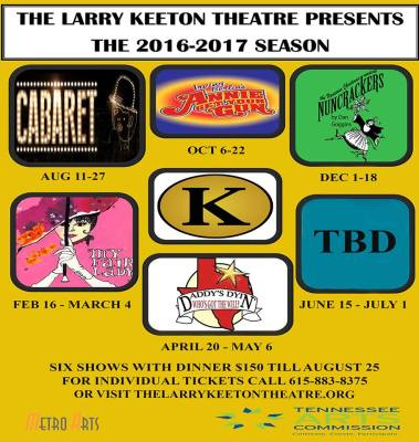 Larry Keeton Theatre 2016-2017 Season