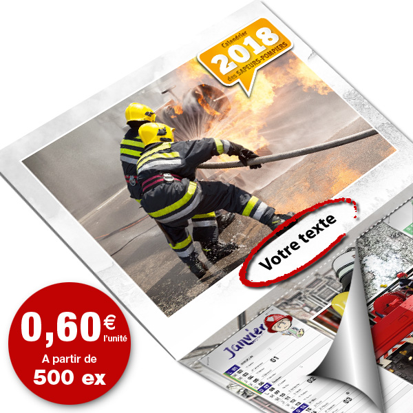 npc-calendrier.fr, calendrier des sapeurs-pompiers personnalisés et personnalisables, eco-6F-std, 2018