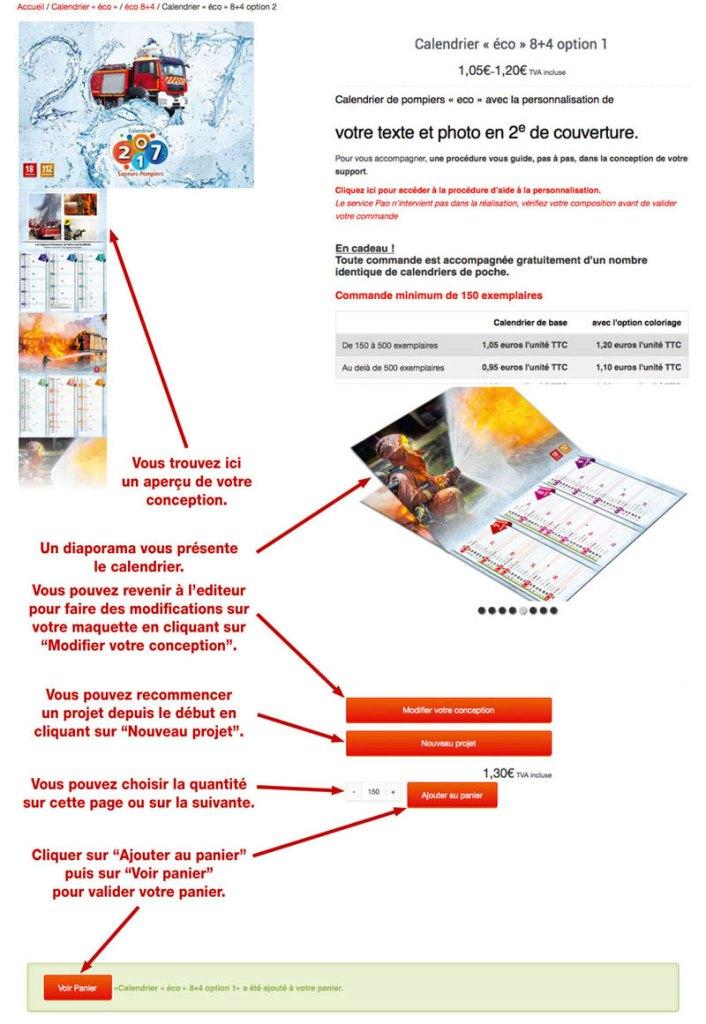 tutoriel de personnalisation en ligne de calendrier de sapeur-pompier 31, npc-calendrier.fr