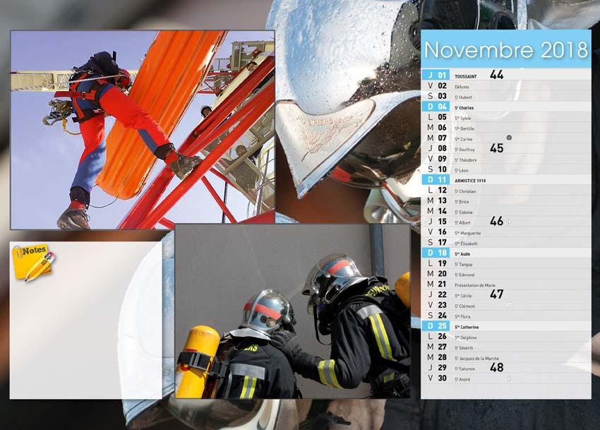 calendrier des sapeurs-pompiers de Villebois-2018-4, npc-calendrier.fr