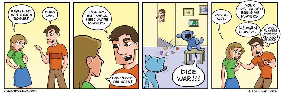If only our cats could play board games with us. Then we wouldn't have to be all social and stuff!