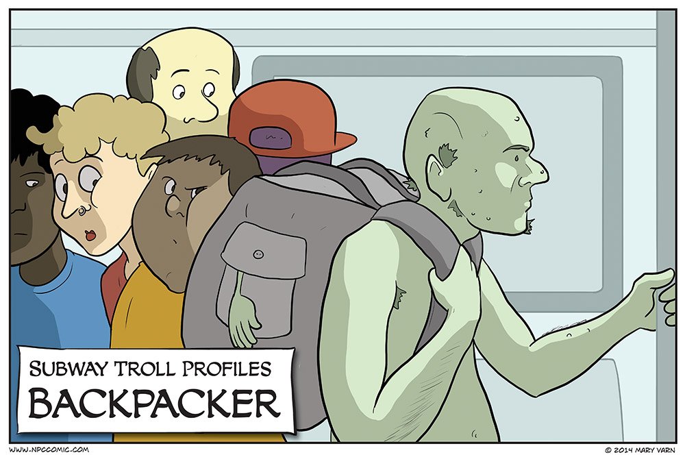 I just want to know what a troll carries in their backpack.