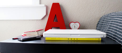 a red typography