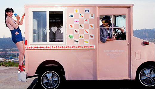 heartschallenger ice cream pink