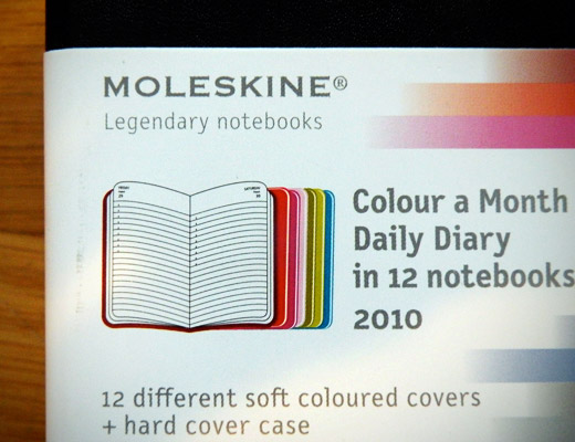 moleskine notebooks daily planner 2010 colour