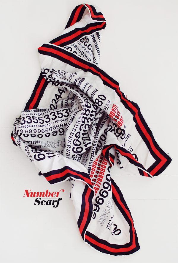 nubby twiglet number scarf