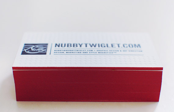 nubby twiglet letterpress business cards