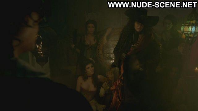 Zuleikha Robinson Nude Sexy Scene Black Sails Hairy Pussy