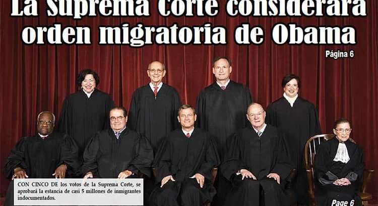 La Suprema Corte considerará orden migratoria de Obama