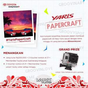 yaris paper craft