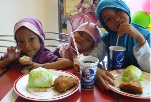 makan di kfc purwokerto