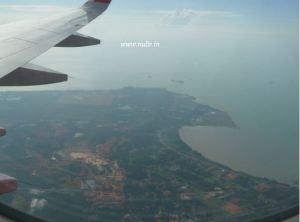 Pemandangan dari dalam pesawat