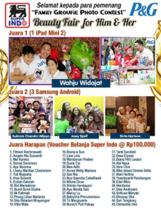 Pemenang Family Groufie Photo Contest (P&G - Superindo)