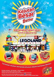 Kejutan Besar Better Berhadiah Jalan-Jalan Ke Legoland Untuk 4 Keluarga