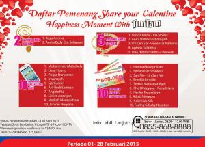 Pemenang Your Valentine