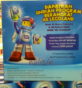 43 Pemenang Kids Go To Legoland (Frisian Flag)