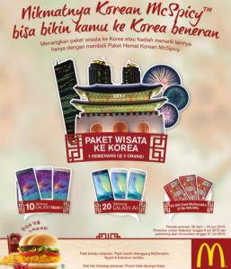 Nikmati Korean Mc Spicy Berhadiah Paket Wisata Ke Korea!