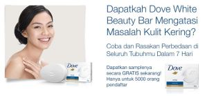 5000 Dove White Beauty Bar Gratis!