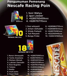 212 Pemenang Nescafe Racing Point (Alfamart)