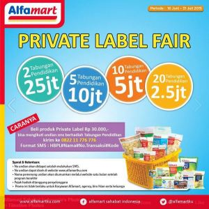 Privata Label Fair Alfamart Berhadiah Tabungan Pendidikan Puluhan Juta Rupiah