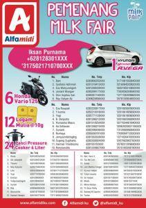 42 Pemenang Milk Fair - Alfamidi