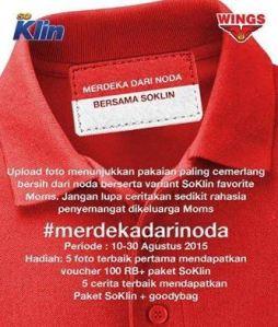 Foto Kontes Merdeka Dari Noda Berhadiah Voucher & Paket So Klin!