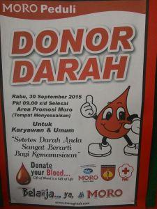 Donor Darah Moro (Purwokerto) Peduli
