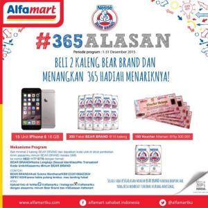 365 Alasan Bear Brand Alfamart Berhadiah Iphone, Paket Produk & Voucher Belanja