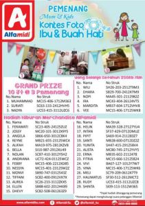 38 Pemenang Mom & Kids Alfamidi