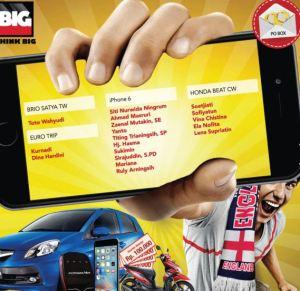 131 Pemenang Undian Big Cola (Tahap 1)