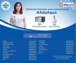 50 Pemenang Promo #AdaAqua - Alfamidi