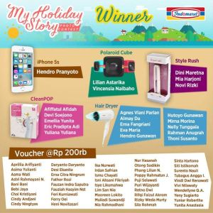 66 Pemenang My Holiday Story Photo Contest Indomaret