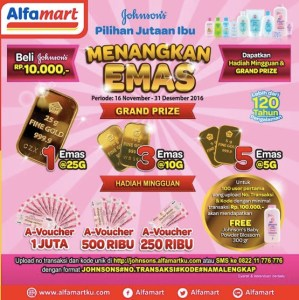 Loyalty Program Johnsons Berhadiah Emas