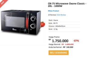 Oxone Classic Microwave (OX-75) Hadiah Shopping Race Alfamart