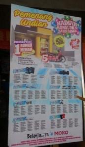 156 Pemenang Undian 18 Th Konsumen Kasih Moro