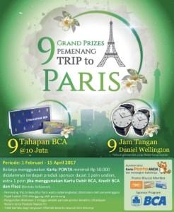 Undian BCA Card, Ponta - Alfamidi Berhadiah Trip Ke Paris