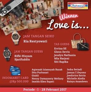 18 Pemenang Indomaret Love Is ...