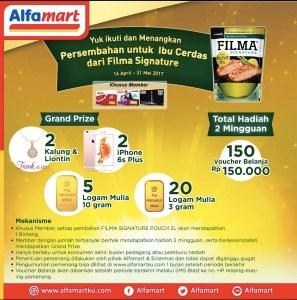 Filma Signature - Alfamart Berhadiah Logam Mulia & Iphone
