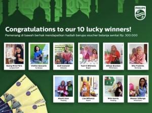 53 Pemenang Rayakan Ramadan Bersama Philips