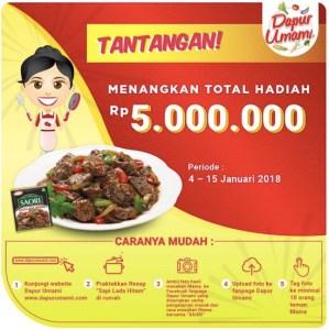 Tantangan Dapur Umami Berhadiah Voucher Belanja Total 5 Juta Rupiah