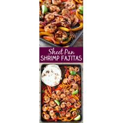 Sunshiny One Sheet Pan Shrimp Fajitas Tender Juicy Shrimp Roasted Bell Pepperand Onion Served Sheet Pan Shrimp Fajitas Pioneer Woman Fajita Casserole Pioneer Woman Fajita Soup nice food Pioneer Woman Fajitas