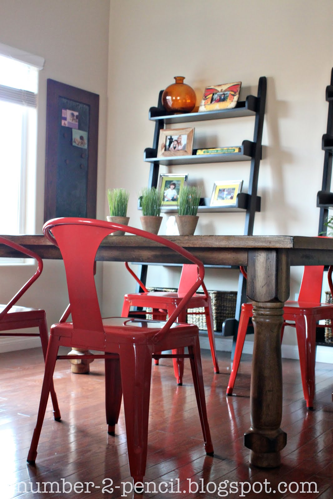 new bright and bold dining chairs red kitchen chairs Really you can t beat the price either We were able to sell our old chairs on Craigslist and make our money back Win win